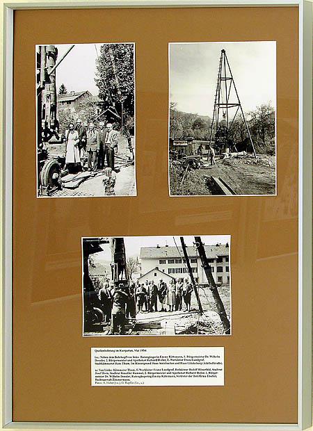W09 - Quellenbohrung im Kurgarten, Mai 1954